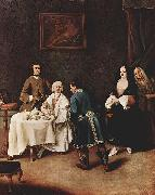 Pietro Longhi Besuch bei einem Lord china oil painting reproduction