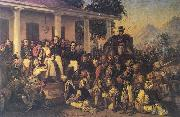 Raden Saleh Depicts the arrest of prince Diponegoro at the end of the Javan War china oil painting reproduction