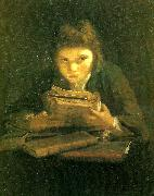 Sir Joshua Reynolds boy reading china oil painting reproduction