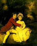 Sir Joshua Reynolds master parker and his sister, theresa china oil painting reproduction