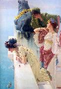 Sir Lawrence Alma-Tadema,OM.RA,RWS A coign of vantage china oil painting reproduction