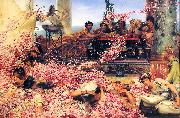 Sir Lawrence Alma-Tadema,OM.RA,RWS The Roses of Heliogabalus china oil painting reproduction