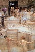 Sir Lawrence Alma-Tadema,OM.RA,RWS A Favourite Custom china oil painting reproduction