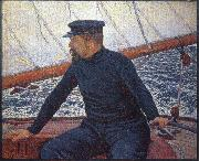 Theo Van Rysselberghe signac on his boat china oil painting reproduction