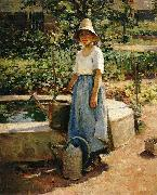 Theodore Robinson At the Fountain china oil painting reproduction