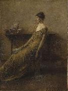Thomas Dewing Lady in Gold china oil painting reproduction