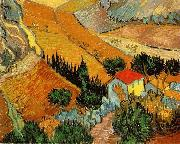 Vincent Van Gogh Valley with Ploughman Seen from Above oil painting picture wholesale