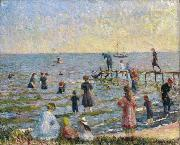 William Glackens Bathing at Bellport, Long Island oil painting picture wholesale