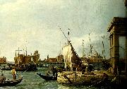 antonio canaletto vy fran tullhuskajen i venedig china oil painting reproduction