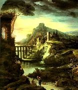 charles billoin paysage a l'aqueduc dit le soir china oil painting reproduction