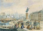 fritz von dardel Skeppsbron vid Gustav IIIs staty china oil painting reproduction