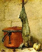 jean-simeon chardin stilleben med hare och kopparkittel china oil painting reproduction