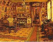 johan krouthen Stiftsbibliotekarie Segersteen i sitt hem china oil painting reproduction