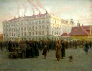 johan krouthen stoa torget china oil painting reproduction