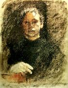 kathe kollwitz sjalvportratt en face china oil painting reproduction