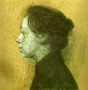 kathe kollwitz sjalvportratt i profil till vanster china oil painting reproduction