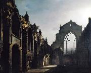 louis daguerre Ruins of Holyrood Chapel by Louis Daguerre china oil painting reproduction