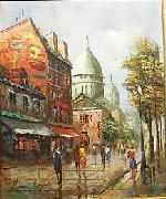 unknow artist Henri Royer Vue sur Montmartre china oil painting reproduction