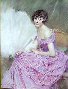 unknow artist Henri Royer Jeune fille china oil painting reproduction