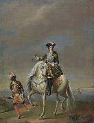 unknow artist Equestrian portrait of Empress Catherine I china oil painting reproduction