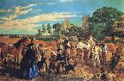 unknow artist Hullo, Largess, A Harvest Scene in Norfolk china oil painting reproduction