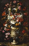unknow artist Flowers in a Figured Vase china oil painting reproduction