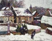 unknow artist Wet Snow, Auvergne china oil painting reproduction