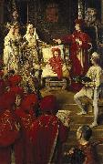 unknow artist Philip I, the Handsome, Conferring the Order of the Golden Fleece on his Son Charles of Luxembourg china oil painting reproduction