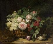 unknow artist Roses and Lilac china oil painting reproduction