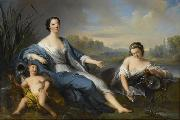 Agostino Brunias grand daughter of Louis XIV oil