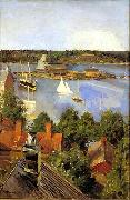 Akseli Gallen-Kallela View from North Quay china oil painting reproduction