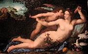 Alessandro Allori Venus disarming Cupid. oil