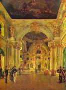 Alexey Tyranov Alexey Tyranov. View of the Big Church of the Winter Palace oil