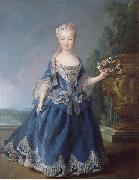 Alexis Simon Belle Portrait of Mariana Victoria of Spain oil