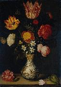 Ambrosius Bosschaert Still Life with Flowers in a Wan-Li vase oil