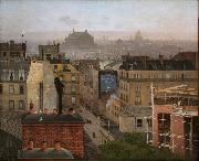 Antonin Chittussi Paris as Viewed from Montmartre oil