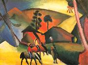 August Macke Indianer auf Pferden oil painting picture wholesale