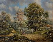 Barend Cornelis Koekkoek Walk in the woods china oil painting reproduction