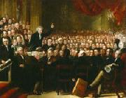 Benjamin Robert Haydon Oil painting of William Smeal addressing the Anti-Slavery Society at their annual convention china oil painting reproduction