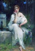 Charles-Amable Lenoir Study for A Meditation china oil painting reproduction