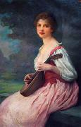 Charles-Amable Lenoir The Mandolin china oil painting reproduction