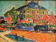 Ernst Ludwig Kirchner Villa in Dresden oil painting picture wholesale