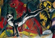 Franz Marc Three cats oil painting picture wholesale
