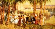 Frederick Arthur Bridgman Procession in Honor of Isis china oil painting reproduction