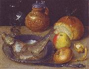 Georg Flegel Still life with herring und Bartmann jug oil painting picture wholesale