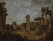 Giovanni Paolo Panini A Capriccio of the Roman Forum china oil painting reproduction