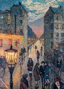 Hans Baluschek Grobstadtwinkel china oil painting reproduction