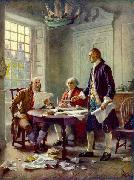 Jean Leon Gerome Ferris Writing the Declaration of Independence, 1776 china oil painting reproduction