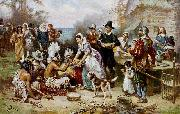 Jean Leon Gerome Ferris The First Thanksgiving china oil painting reproduction