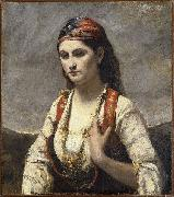 Jean-Baptiste Camille Corot Young Woman of Albano oil painting picture wholesale